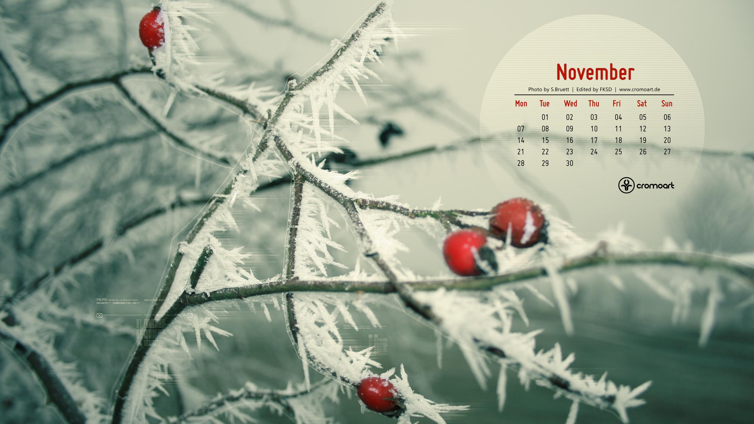 Free Desktop Calendar November 2011