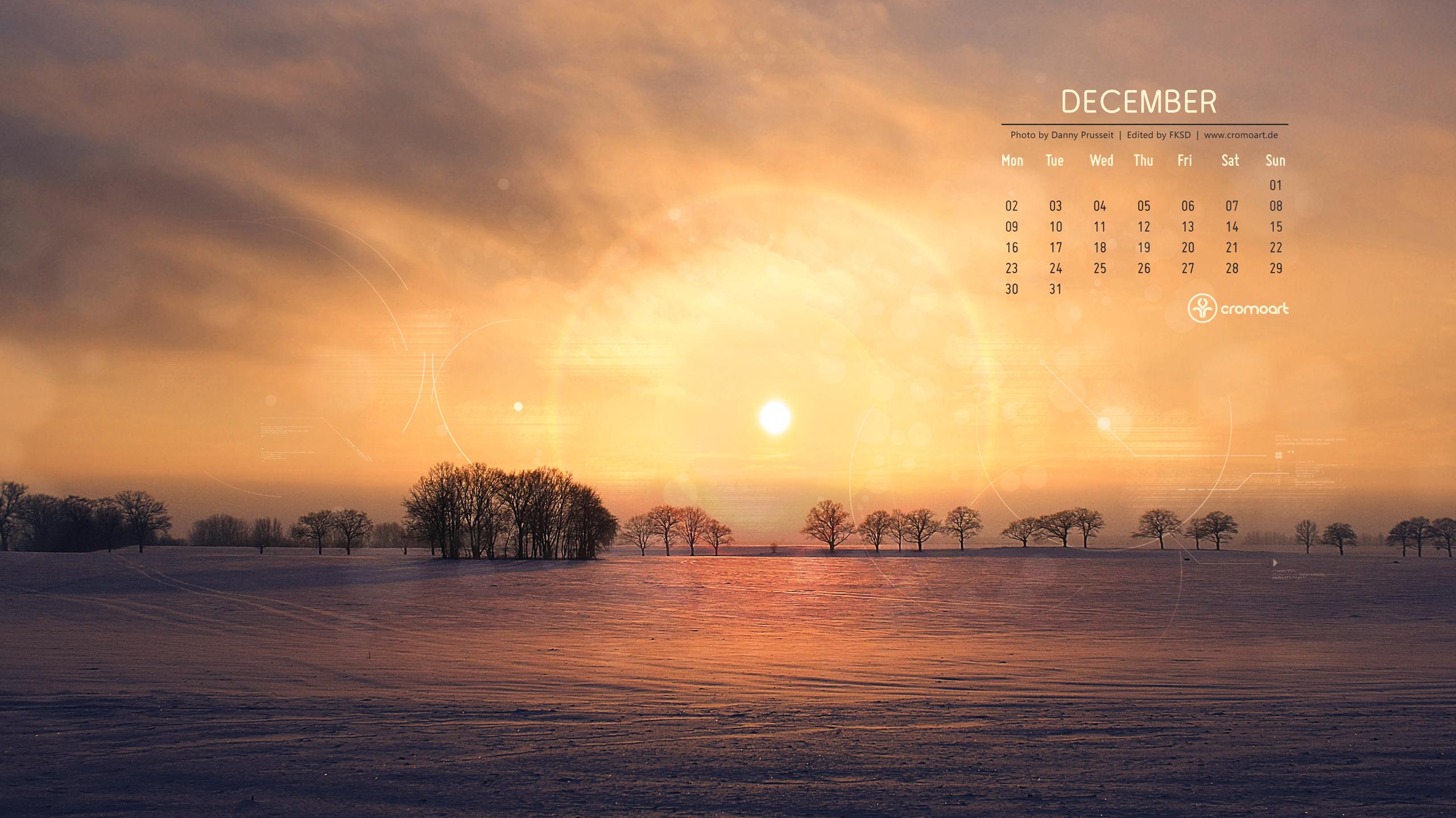 cromoart desktop calendar december 2013